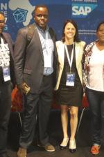 Tawando Kembo: BitFinance Zimbabwe, John Karanja: BitHub Kenya, Sonya Kuhnel: Bitcoin Events, Alakanani Itireleng: Satoshi Centre Botswana. Africa represented!