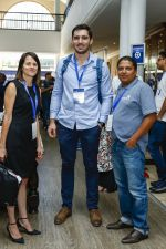 Sonya Kuhnel and Theo Sauls, founders of Bitcoin Events, with Marius Reitz, Country Manager at Luno